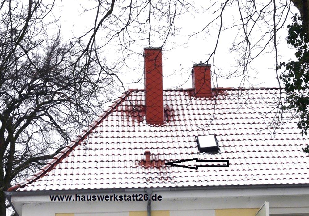 4-Betauung der Dachpfannen-und-Schnee-am-Abschmilzen
