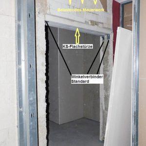 Kalksandsteinsturz-auf-Winkelverbinder-Brandschutztuer-fehlende-Baubegleitung
