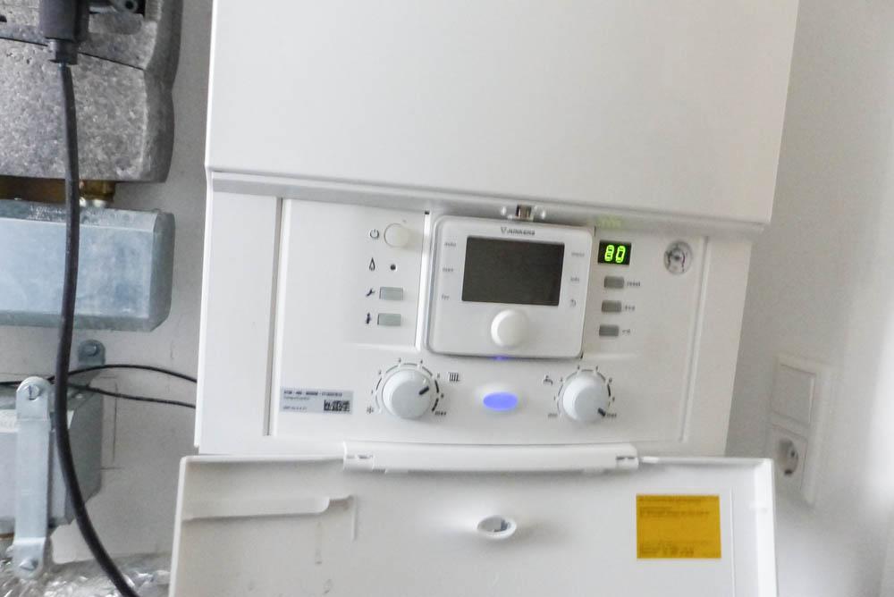 Vorlauftemperatur-an-Brennwertheizkesselanlage