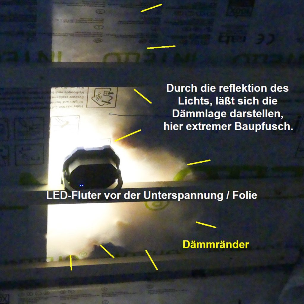 Vollsparrendaemmung-Pfusch-LED-Fluter