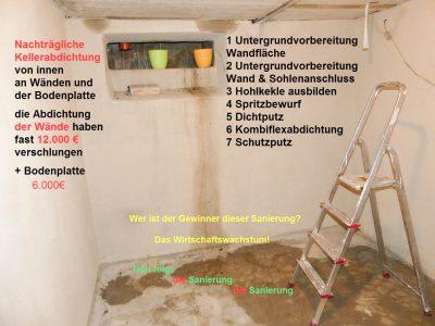 Feuchteschaden im Keller bei nachträglicher Abdichtung
