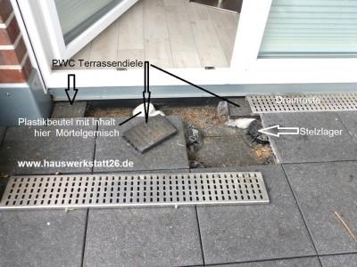 Die Beschaffenheitsvereinbahrung – Terrassenbelag